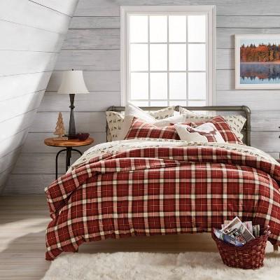 Autumn 3Pc  Plaid Comforter Set Red - G.H. Bass