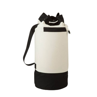 Honey-Can-Do Laundry Bag Duffel Style Black/White