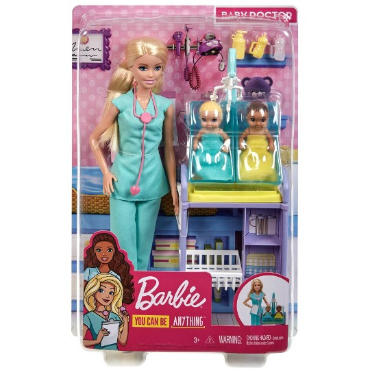 Barbie You Can Be Anything Baby Doctor Blonde Doll and Playset image number null