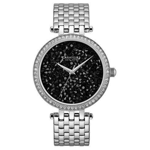Women's Caravelle New York Analog Watch - Silver - image 1 of 3