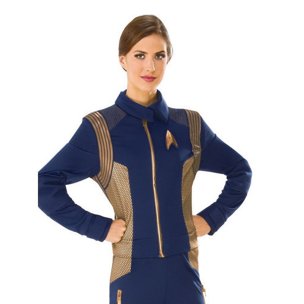 Star Trek Discovery Women's Copper Operations Uniform Costume S - Rubie's, Blue