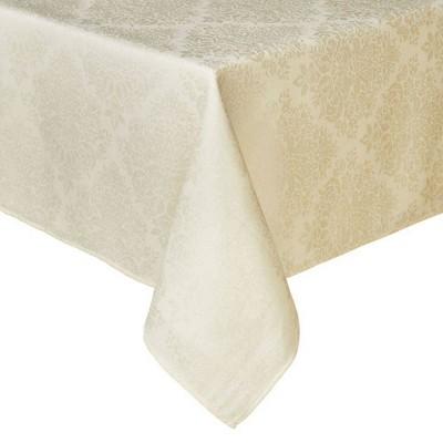 """60""""X84"""" Lexington Tablecloth Cream - Town & Country Living"""