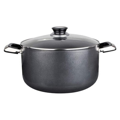 Alpine Cuisine Aluminum Non-Stick Dutch Oven Pot with Glass Lid and Carrying Handles, 3 Quart, Gray