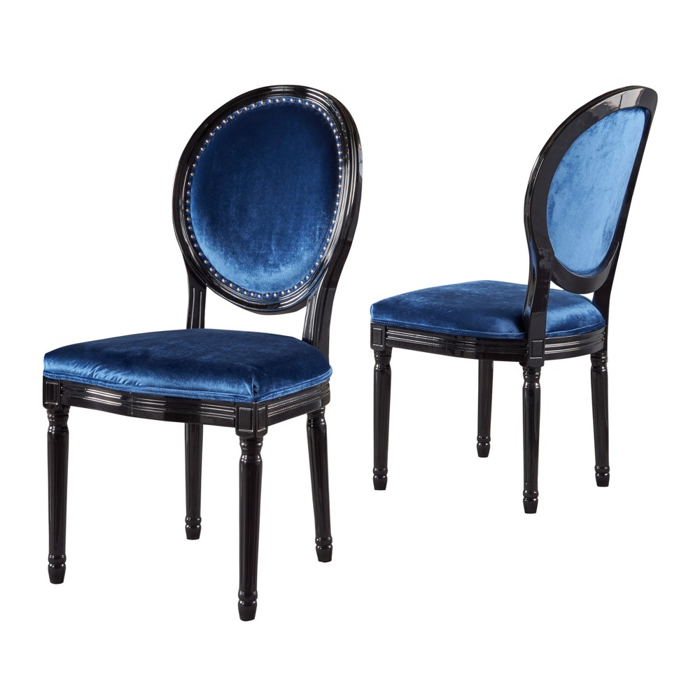 Leroy Set of 2 Traditional Dining Chair Navy Blue - Christopher Knight Home