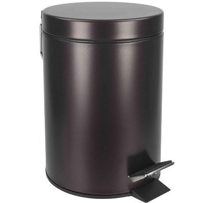 Home Basics 3 Liter Steel Step Waste Bin, Bronze