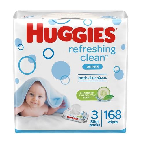 Huggies Refreshing Clean Cucumber/Green Tea Flip-top Packs Baby Wipes - 168ct - image 1 of 4