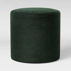 Bodrum Round Upholstered Ottoman Velvet - Project 62™