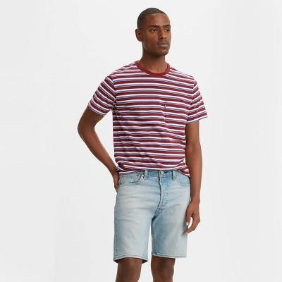 Levi's® Men's Striped Logo Crewneck T-Shirt - Red Ribbon
