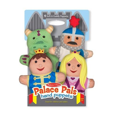 Melissa & Doug Palace Pals Hand Puppets (Set of 4) - Prince, Princess, Knight, and Dragon - image 1 of 4
