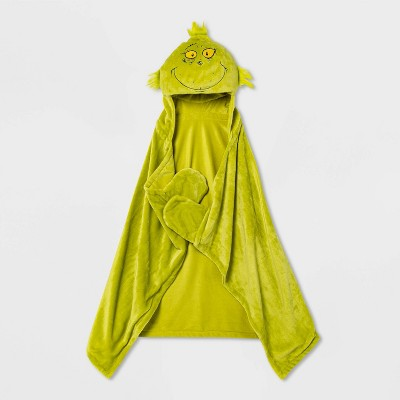 The Grinch Hooded Blanket