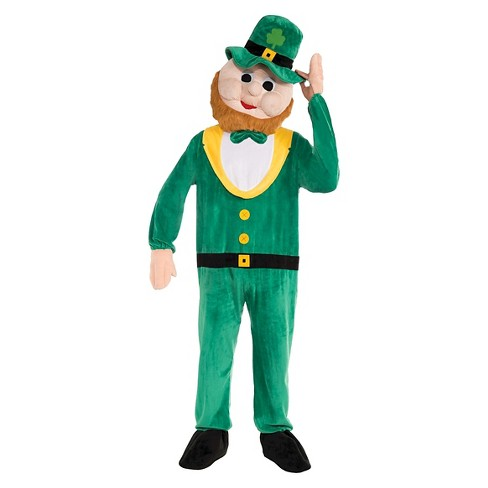 St. Patrick's Day Leprechaun Mascot Adult Costume - One Size Fits Most - image 1 of 1