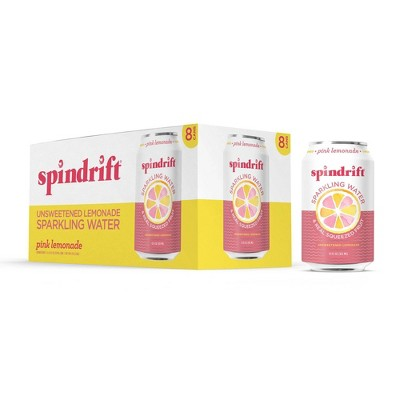 Spindrift Pink Lemonade Sparkling Water - 8pk/12 fl oz Cans