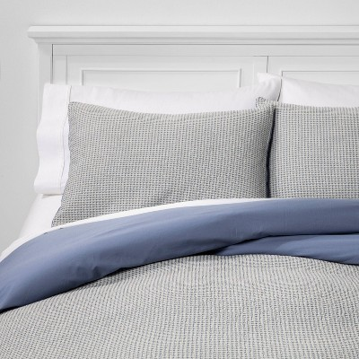 Washed Waffle Weave Duvet Cover &Amp; Pillow Sham Set   Threshold by Threshold