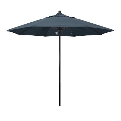 9u0027 Complete Fiberglass Pulley Open Patio Umbrella   California Umbrella