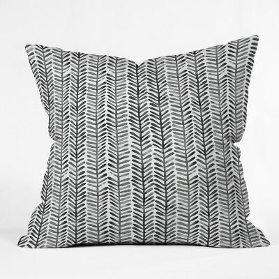 Black/White Check Throw Pillow - Deny Designs