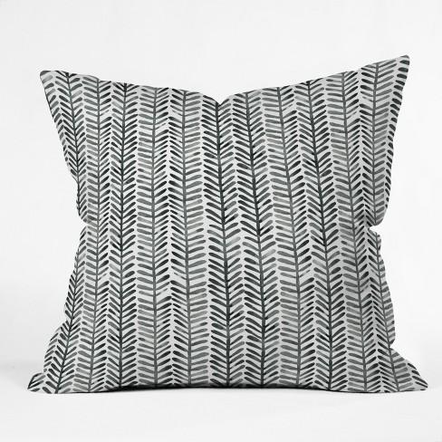 Black/White Check Throw Pillow - Deny Designs - image 1 of 2