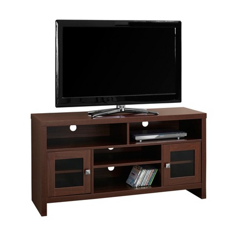 TV Stand with Glass Doors - Warm Cherry - EveryRoom - image 1 of 2