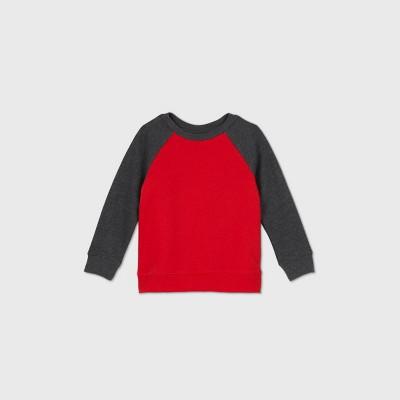 Toddler Boys' Fleece Crew Neck Sweatshirt - Cat & Jack™ Red 18M