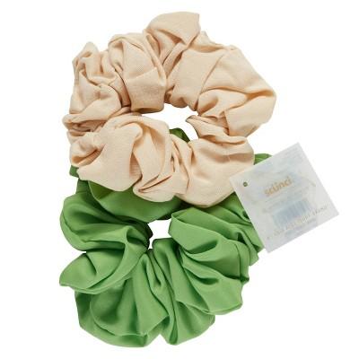 scunci Collection Jumbo Scrunchie - Green - 2pk