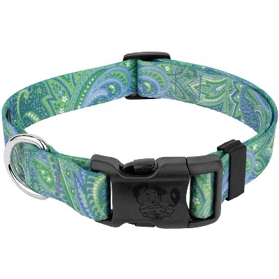 Country Brook Design® Deluxe Green Paisley Dog Collar - Made in The U.S.A.
