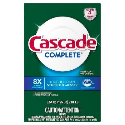 Cascade Complete Powder Dishwasher Detergent Fresh Scent - 125oz