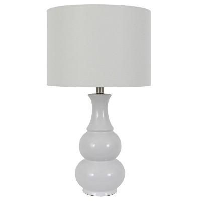 """26.5"""" Harper Ceramic Table Lamp White (Includes CFL Light Bulb) - Decor Therapy"""
