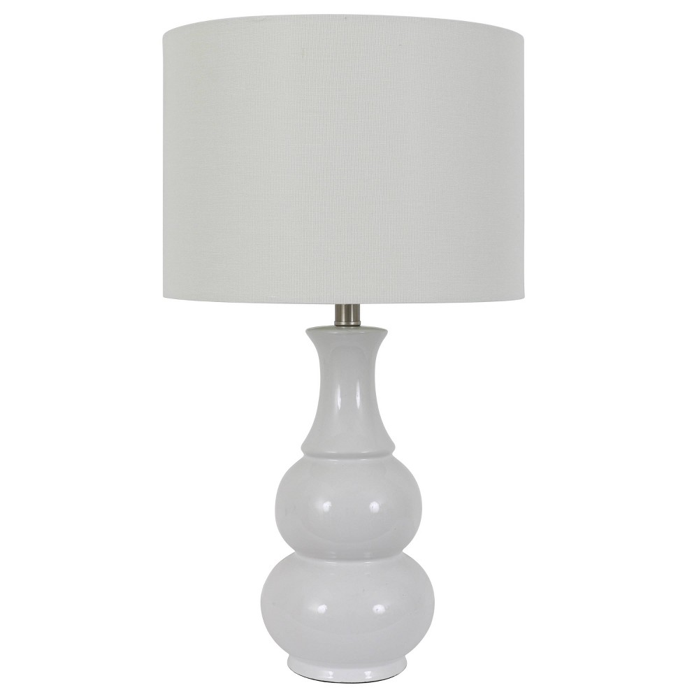 Image of Harper Ceramic Table Lamp White (Includes Energy Efficient Light Bulb) - Decor Therapy