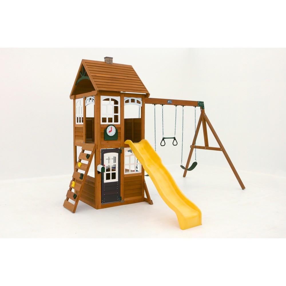 KidKraft McKinley Wooden Swing Set/Playset, Multi-Colored