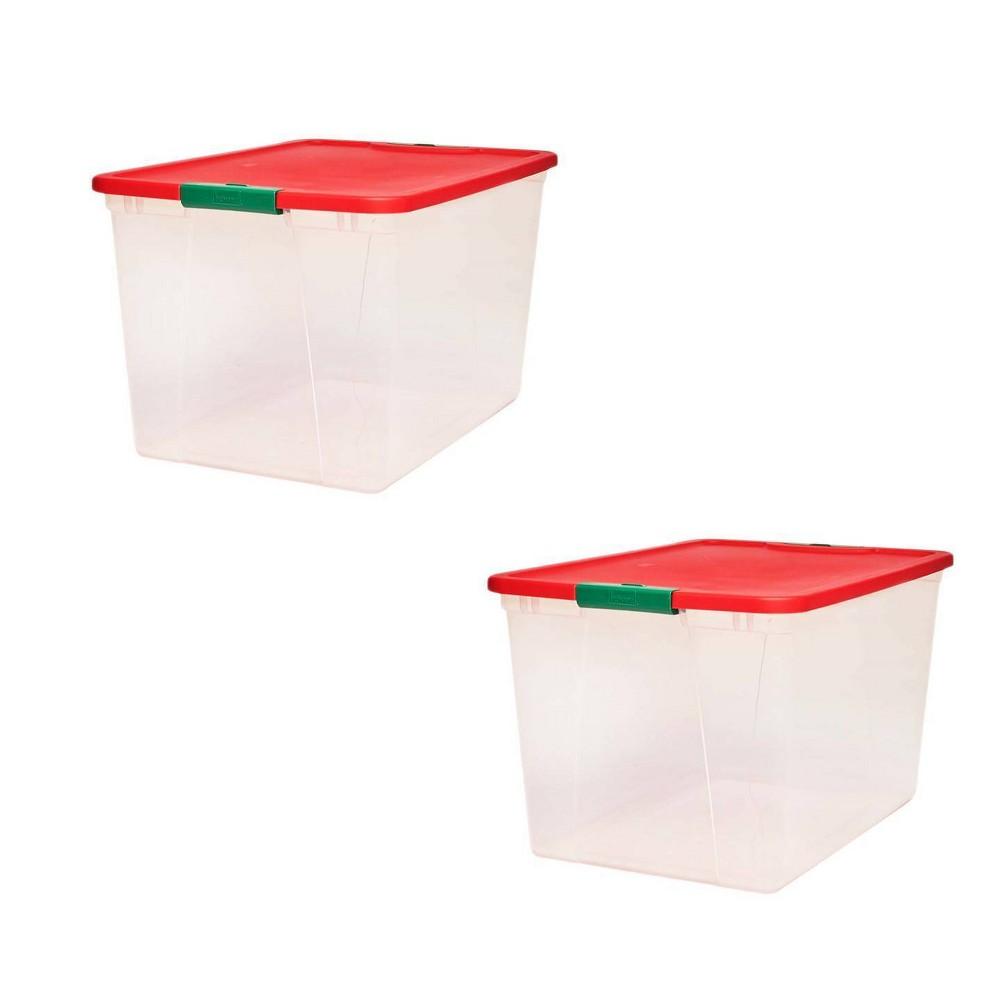 Image of 2pk 64qt Latching Holiday Storage - Homz