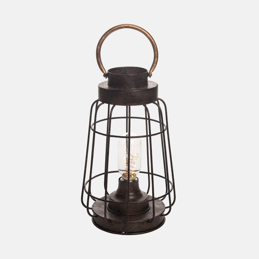 Image of 11.5 Firefly Led Outdoor Lantern - Foreside Home & Garden, Black