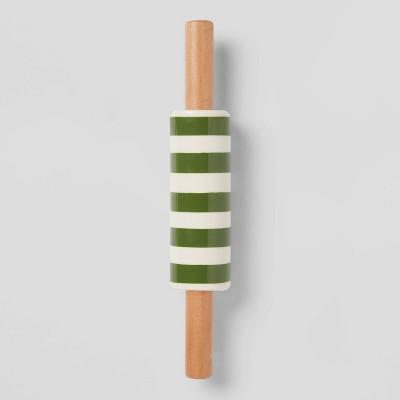 Stoneware Mini Striped Kitchen Rolling Pin - Threshold™