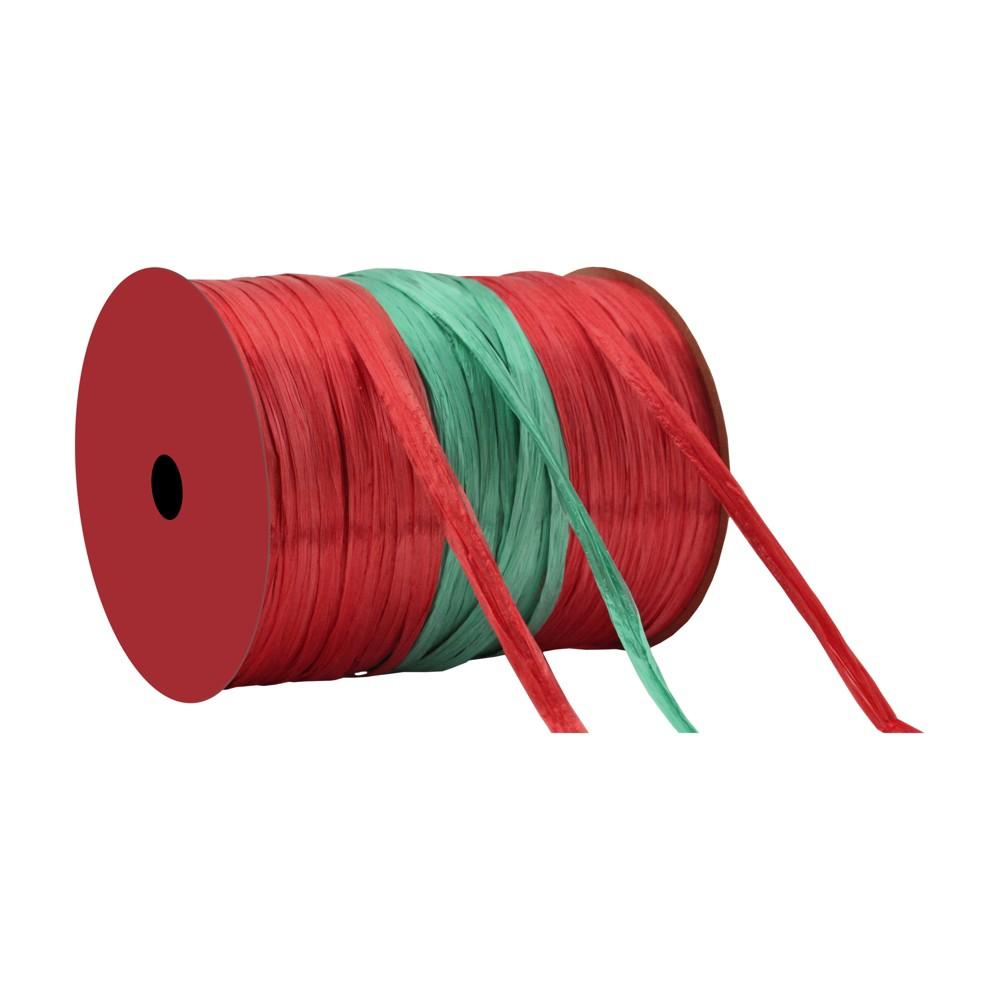 Red/Green Wraphia Ribbon - Wondershop