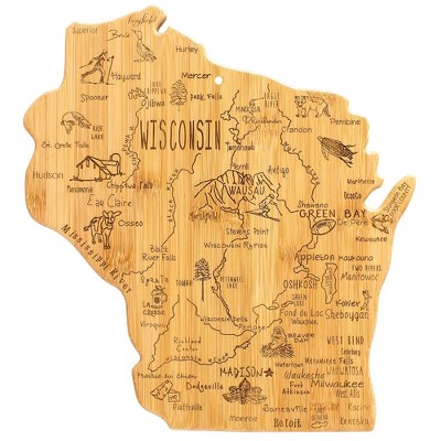 Totally Bamboo Destination Wisconsin Cutting Board