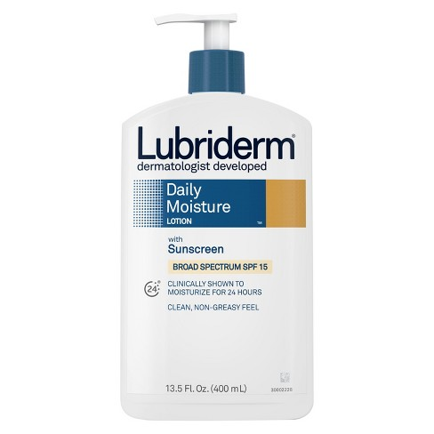 Lubriderm® Daily Moisture Body Lotion With Broad Spectrum SPF 15 Sunscreen - 13.5 fl oz - image 1 of 3