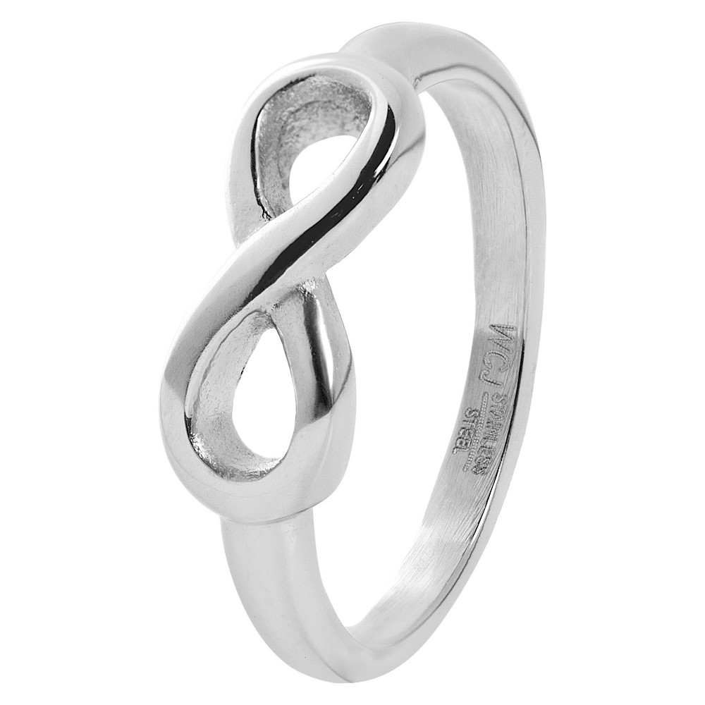 West Coast Jewelry Stainless Steel Infinity Band Ring (6), Silver