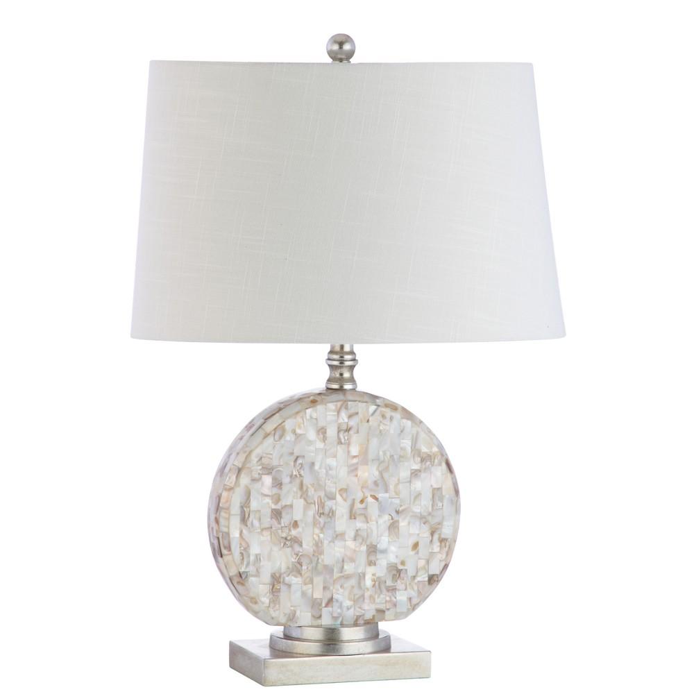 Dennis Seashell Led Table Lamp Beige (Includes Energy Efficient Light Bulb) - Jonathan Y, Ivory