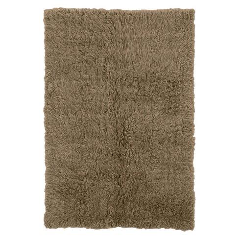 100 New Zealand Wool Flokati Area Rug Mushroom 5 X8