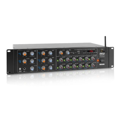 Pyle PT12050CH Pro Audio Bluetooth 6000 Watt 12 Channel Power Amplifier, Sound Mixer, Stereo Receiver and PA System for Theater, Studio, and Stage