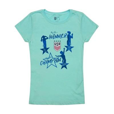 United States Soccer Federation 2020 Girls' Celebration Blue T-Shirt