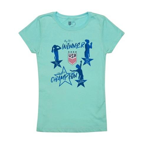 United States Soccer Federation 2020 Girls' Celebration Blue T-Shirt - image 1 of 1