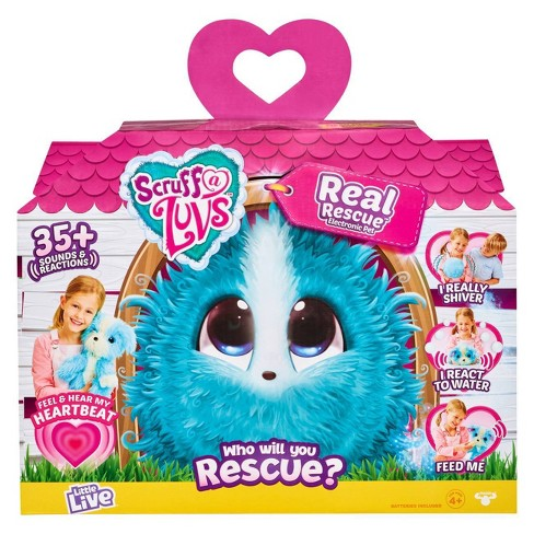 Little Live Scruff-a-Luvs Real Rescue Electronic Pet - Blue - image 1 of 4