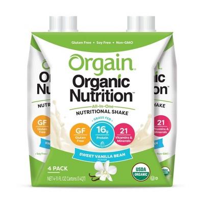 Orgain Nutritional Shake - Vanilla - 11 fl oz/4pk