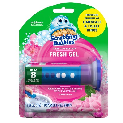 Scrubbing Bubbles Toilet Gel Floral Fusion - 1.34oz/1ct