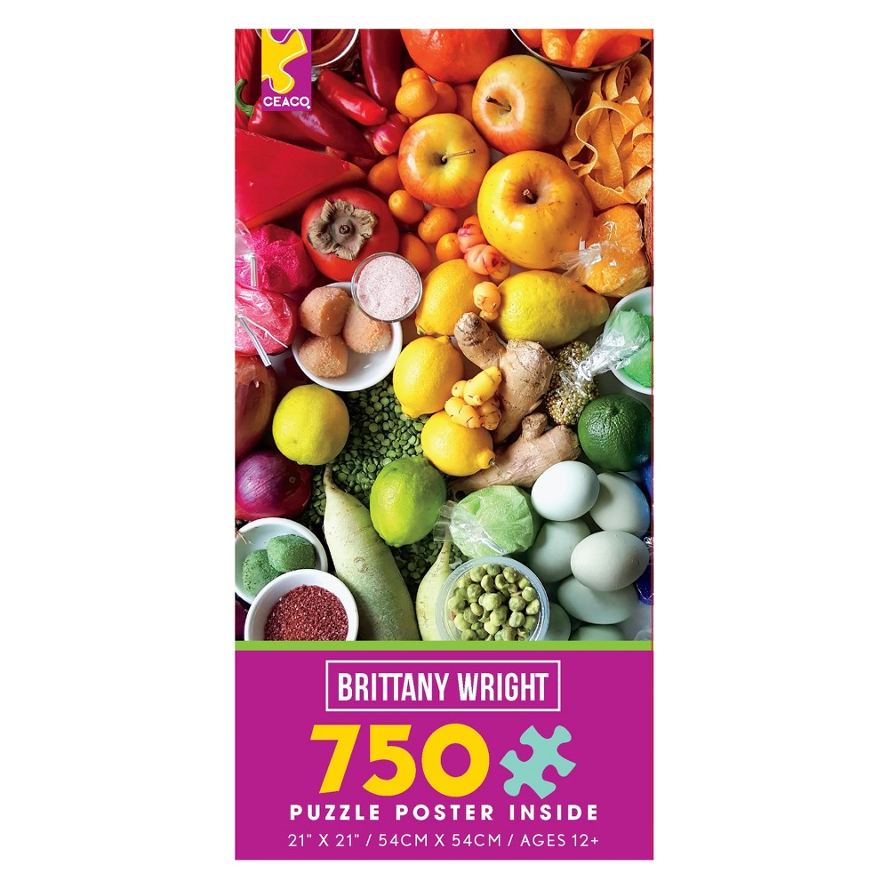 Ceaco 750pc Brittany Wright Food Medley Puzzle