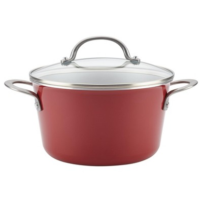 Ayesha Curry™ 4.5qt Home Collection Porcelain Enamel Nonstick Covered Saucepot