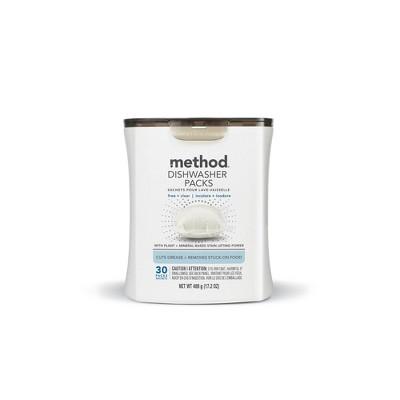 Method Dishwasher Packs Free + Clear - 30ct
