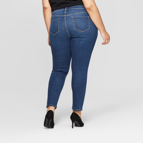 1e1a440665b0c Women s Plus Size Skinny Jeans - Ava   Viv™ Medium Wash 20W   Target