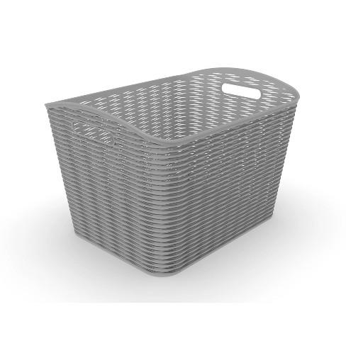 26L Wave Design Curved Basket Gray - Room Essentials™ - image 1 of 1