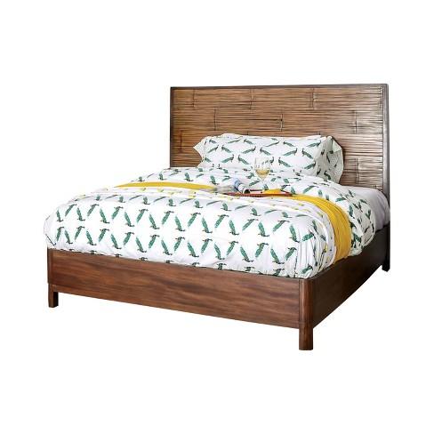 Veronica Platform Bed Antique Brown - HOMES: Inside + Out - image 1 of 4