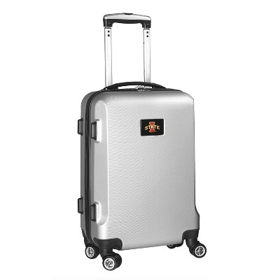 NCAA Mojo Silver Hardcase Spinner Carry On Suitcase